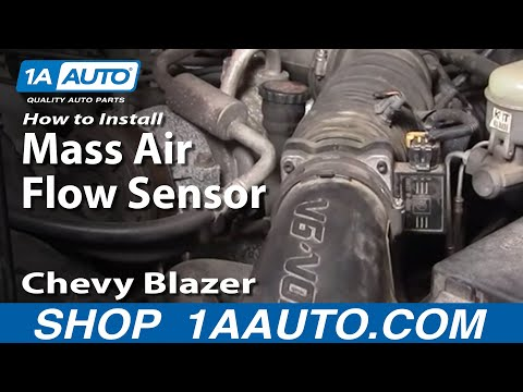 How To Install Replace Mass Air Flow Sensor Meter S10 Blazer Pickup Jimmy 4.3L 96-05 1AAuto.com