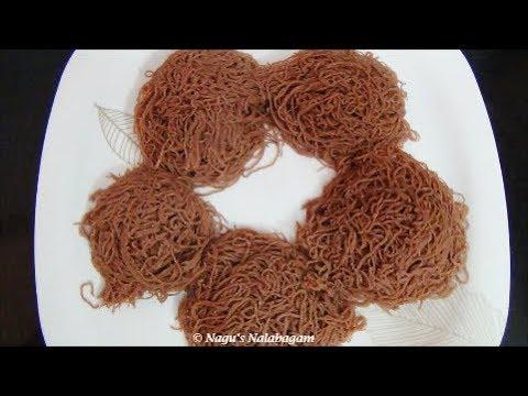 Red Rice Idiyappam Recipe-Sigappu Arisi Nool Puttu-String Hoppers Recipe By Nagu's Nalabagam