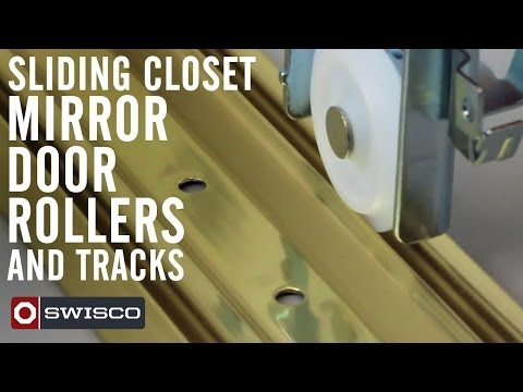 Sliding closet mirror door rollers and tracks