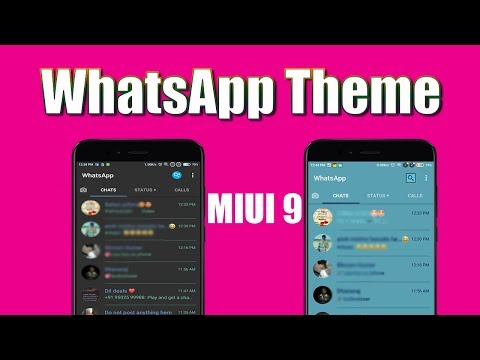 Top 5 Themes for MIUI 9 with Whatsapp Module / Whatsapp Theme