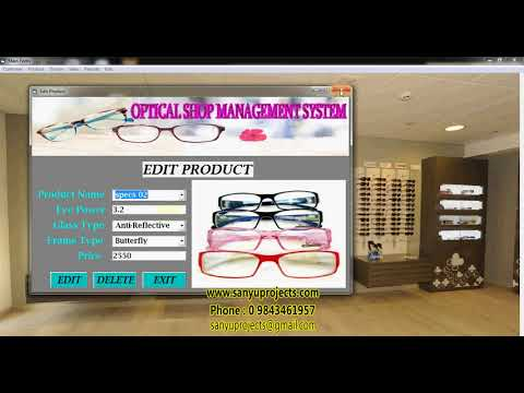 Optical Shop Management System Visual Basic Ms access Project