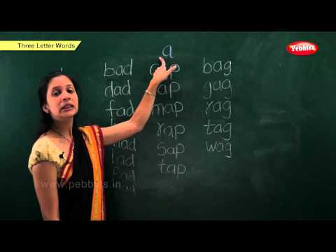 Phonics Chapter 3 : Three Letter Words | Learn Phonics For Kids | Phonics Classroom Teaching Lessons