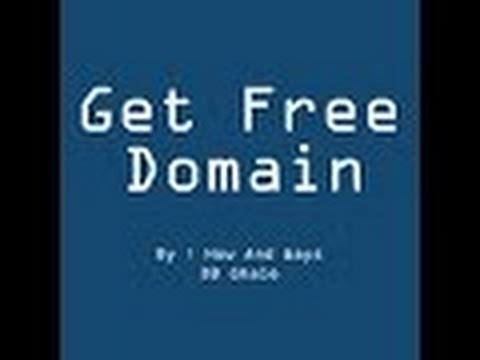 How to get free domain name  / how to register free domain for free