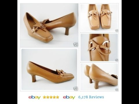 Liz Baker Womens Size 6.5 Leather Pumps Heels Tan Gold Shoes
