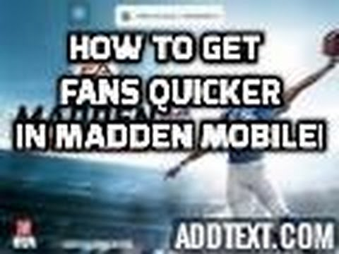 How To Get Instant Fans In Madden Mobile !