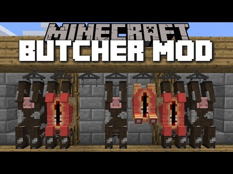 Minecraft BUTCHER MOD / KILL COWS AND MAKE A WONDERFUL BBQ!! Minecraft