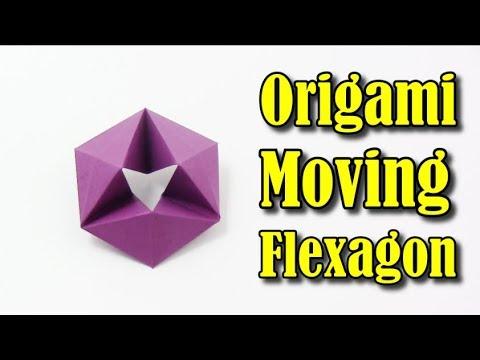 Origami Flexagon EASY (Moving Flexagon) IN ENGLISH - Yakomoga Easy Origami tutorial