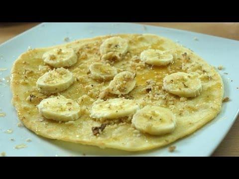 Yogurt Pita Snack with Banana & Honey