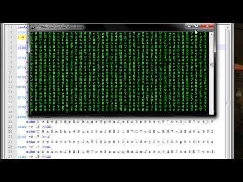 Matrix Scrolling Effect (Command Prompt)