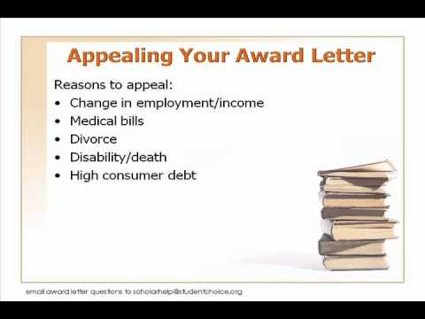 Part 5: More on the Award Letter