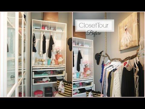 Closet Tour (Before) - Closet Organization Ideas - Walk In Closet DIY - MissLizHeart