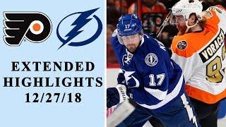 Philadelphia Flyers Vs Tampa Bay Lightning EXTENDED HIGHLIGHTS 122718 NHL On NBC
