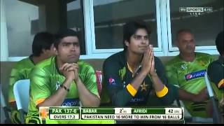1st T20 Shahid Afridi Bating And Last Momtents Pak Wins Must Watch It !!!