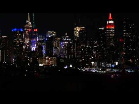 Empire State Building and Time Square from Weehawken NJ