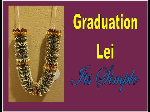 How to make a money lei (for graduation)