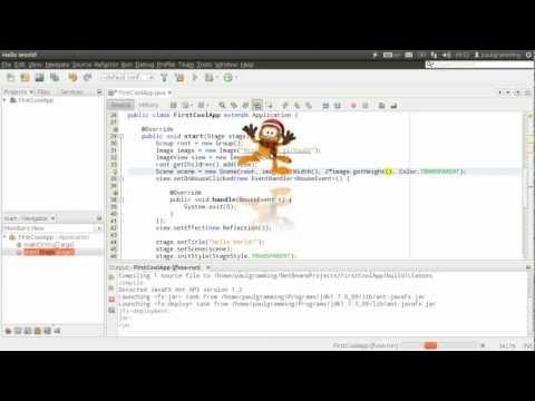 First Cool Java/JavaFX Application with NetBeans