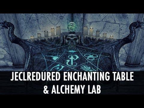 Skyrim Mod Spotlight: Jeclredured Enchanting Table & Alchemy Lab