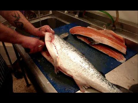 How To Fillet Salmon.Into Salmon Sides/Fillets.(QUICKLY)..
