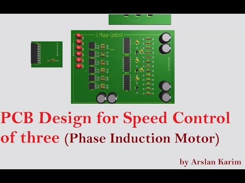 PCB Design for Speed Control of three Phase Induction Motor ✅