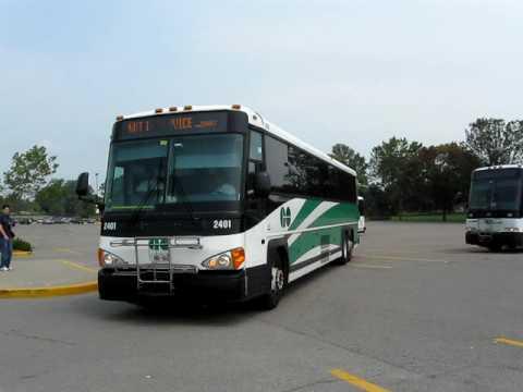 GO Buses Leaving Oshawa Centre