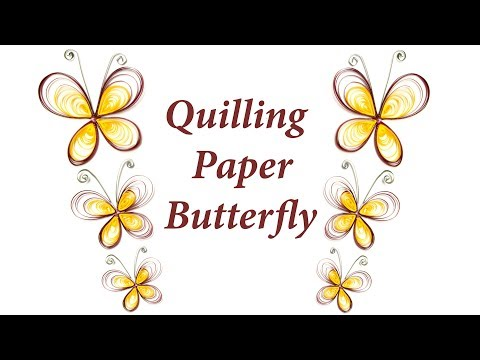 How to Make Paper Quilling Butterfly Step by Step