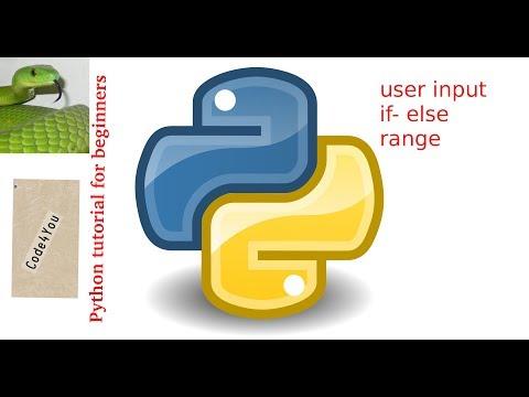 Python if-else,userinput ||Python Tutorial #3|| Python Tutorial for Beginners