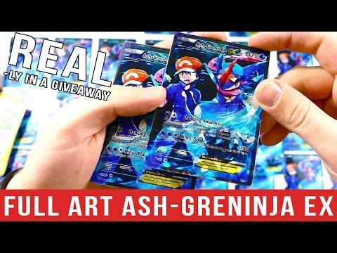 FULL ART Ash-Greninja EX Pokemon Card GIVEAWAY!