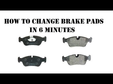 How to change brake pads in 6 minutes on BMW e46 e36 e30