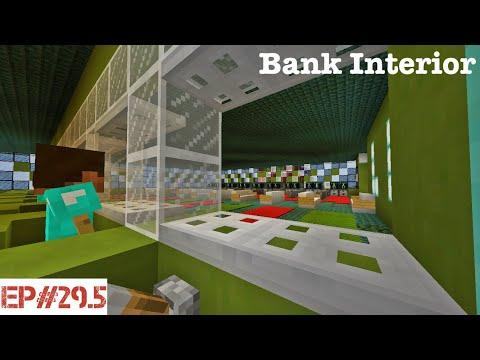 Minecraft   Building A City   #29.5   Bank Interior