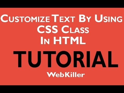 Change Font Style Using Css in HTML