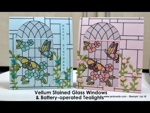No.390 - Stained Glass Window & Tealight - UK Stampin' Up! Independent Demonstrator