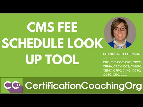 CMS Fee Schedule Lookup Tool — Step-by-Step Instructions