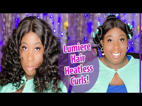 HOW TO GET HEATLESS CURLS || LUMIERE HAIR REVIEW