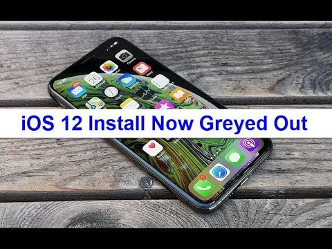 iOS 12 Install Now Greyed Out (Fixed)