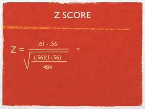 An example of z scores for a proportions