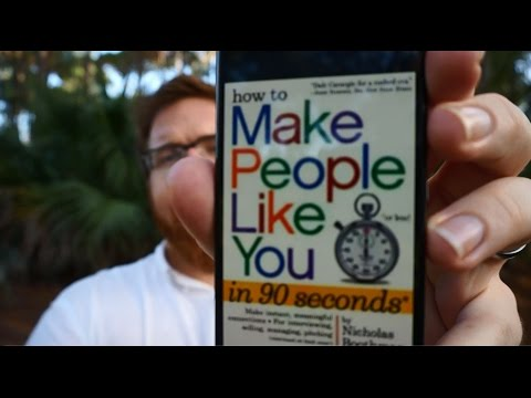 Book Review - How to Make People Like You in 90 Seconds or Less by Nicholas Boothman - Joshua Sheats