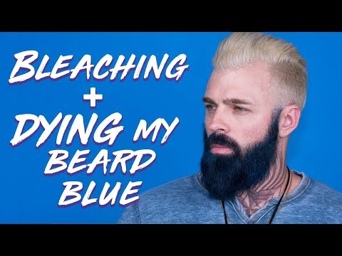 Bleaching My Beard and Dying it Navy Blue With Arctic Fox Hair Color | TheRyanMorgan