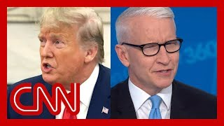 Anderson Cooper shows how Trump contradicts himself on Iran