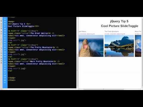 jQuery Tip 5 Cool Image SlideToggle