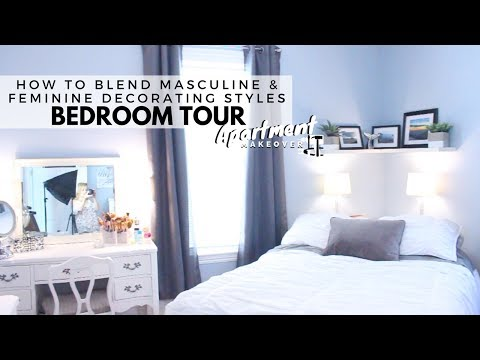How to Blend Masculine and Feminine Decorating Styles || Bedroom Tour