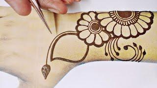 सबसे आसान और सुंदर मेहंदी डिजाइन-simple and beautiful mehndi design-बढिया मेहंदी लगाने का आसान तरीका