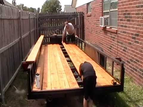 Reflooring or Redecking Utility Trailer Bed  pretty much done