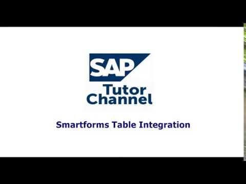 Smartforms Table Integration