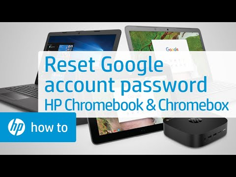 Resetting Your Google Account Password - Chromebook and Chromebox