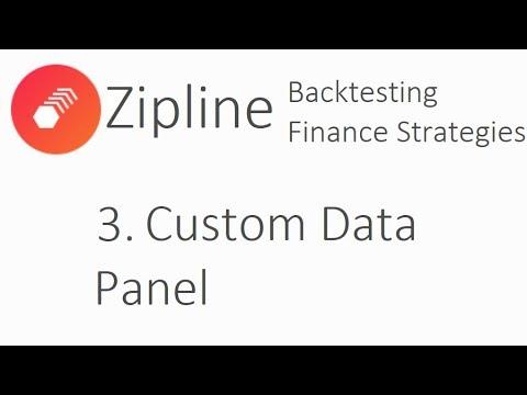 Custom Data Panel - Zipline Tutorial local backtesting and finance with Python p.3