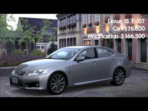 Gran turismo 5 Possible Race Modification Car List