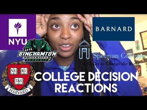COLLEGE DECISION REACTION 2018 (NYU, Harvard, Spelman and more)