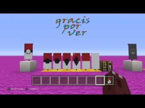 How to make a pokeball banner in minecraft