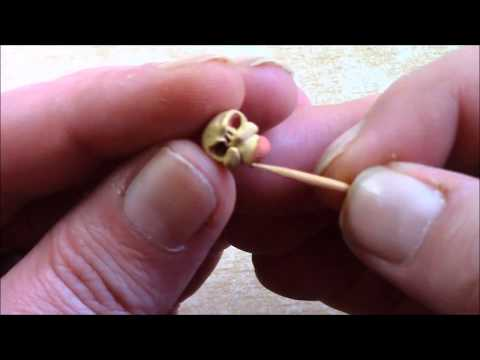 How to make a skeleton of clay