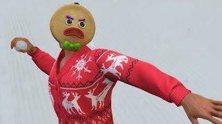 GTA 5 ONLINE EPIC SNOW BALL FIGHT & CHRISTMAS CHALLENGES! (GTA 5 Festive Surprise 2016)